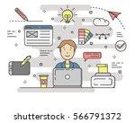 design concept vector... | Shutterstock .eps vector #566791372