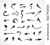 hand drawn arrows  vector set | Shutterstock .eps vector #566792005