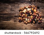 nuts mix exotic fruits  | Shutterstock . vector #566792692