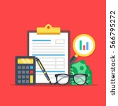 financial analysis  accounting  ... | Shutterstock .eps vector #566795272