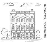 city skyline in line art style  ...   Shutterstock .eps vector #566795278