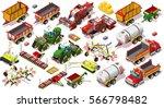 isometric farm barley 3d... | Shutterstock .eps vector #566798482
