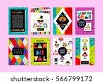 carnival templates in memphis... | Shutterstock .eps vector #566799172