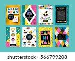 carnival templates in memphis... | Shutterstock .eps vector #566799208