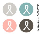 the ribbon is a symbol of the... | Shutterstock .eps vector #566805745