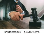 justice and law concept.male... | Shutterstock . vector #566807296