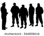 people of special police force... | Shutterstock .eps vector #566808616