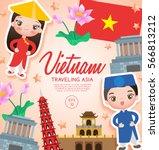 traveling asia   vietnam... | Shutterstock .eps vector #566813212