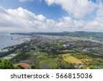 ibusuki town landscape view and ... | Shutterstock . vector #566815036