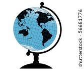 vector globe | Shutterstock .eps vector #56681776
