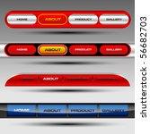 editable website vector buttons | Shutterstock .eps vector #56682703