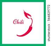 chili. vector   chili pepper... | Shutterstock .eps vector #566829772