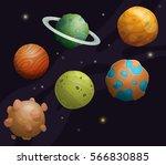 set of cartoon fantastic... | Shutterstock .eps vector #566830885