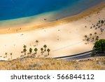aerial view on teresitas beach... | Shutterstock . vector #566844112