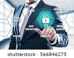cyber security data protection... | Shutterstock . vector #566846275
