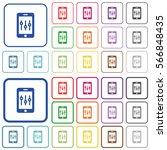 smartphone tweaking color flat... | Shutterstock .eps vector #566848435