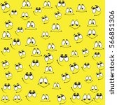 pattern of funny smiles on a... | Shutterstock .eps vector #566851306
