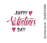 happy valentines day.... | Shutterstock .eps vector #566853388