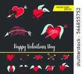 vector illustration   valentine'...   Shutterstock .eps vector #566855752