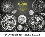 brazilian cuisine top view... | Shutterstock .eps vector #566856115