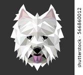 west highland white terrier.... | Shutterstock .eps vector #566860012