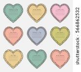 valentine's day vintage frames... | Shutterstock .eps vector #566862532