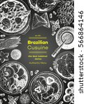 brazilian cuisine top view... | Shutterstock .eps vector #566864146