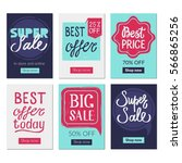 sale banners set and ads web... | Shutterstock .eps vector #566865256