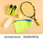 sport  fitness  tennis  healthy ...   Shutterstock . vector #566865826