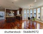 open floor plan interior of... | Shutterstock . vector #566869072