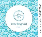 retro nautical background with... | Shutterstock .eps vector #566869165