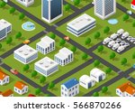 illustration of the urban... | Shutterstock .eps vector #566870266
