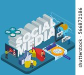 trends in social networks 2017. ... | Shutterstock .eps vector #566872186