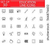 education line pictograms... | Shutterstock .eps vector #566876602