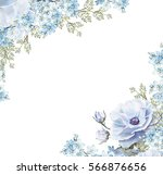 card  watercolor wedding... | Shutterstock . vector #566876656