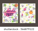 carnival vector background with ... | Shutterstock .eps vector #566879122