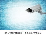 security camera concept for big ... | Shutterstock . vector #566879512