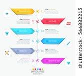 modern infographic design... | Shutterstock .eps vector #566882215
