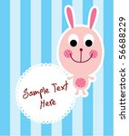 cute bunny tag | Shutterstock .eps vector #56688229