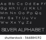 silver alphabet | Shutterstock .eps vector #566884192