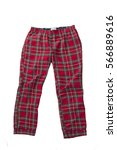 women's plaid pajama pants and... | Shutterstock . vector #566889616