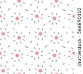 cute minimalistic pattern with... | Shutterstock .eps vector #566890102
