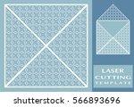 square laser cut envelope... | Shutterstock .eps vector #566893696