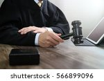 justice and law concept.male... | Shutterstock . vector #566899096