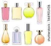 vector perfume icons | Shutterstock .eps vector #566901436