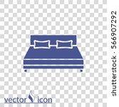 bed vector icon   Shutterstock .eps vector #566907292