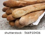 french bread sticks freshly out ... | Shutterstock . vector #566910436