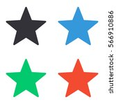star icon   colored vector  set   Shutterstock .eps vector #566910886