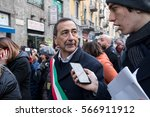 Small photo of MILAN, JANUARY 28, 2017: The mayor of Milan, Giuseppe Sala, attends the human chain organized in the Day of Memory of the Shoah.