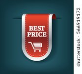 best price ribbon sale sticker... | Shutterstock .eps vector #566919172